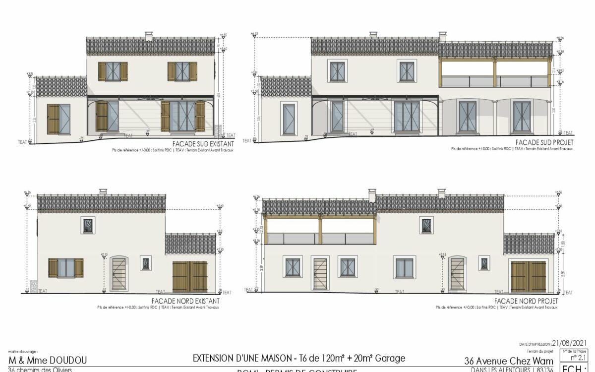 Extension Plan de maison