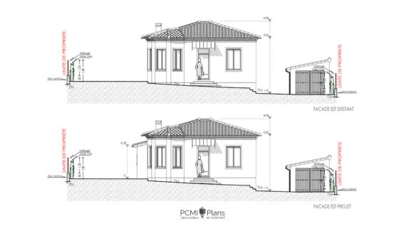 DP 5 Plan de pignon extension