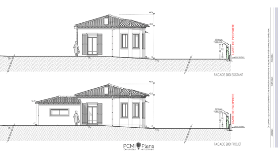 DP 5 Plan de façade extension