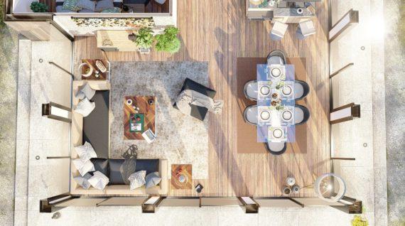 Aménagement plans 3D Maison à ossature bois de 110m