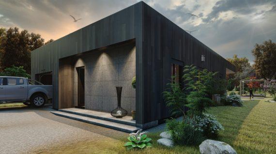 Contemporaine à ossature bois de 110m² – 3 chambres