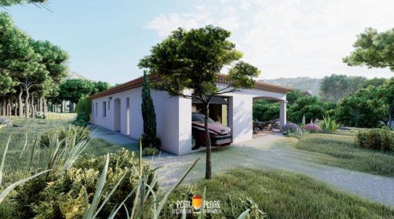 maison de plain-pied de 100m²
