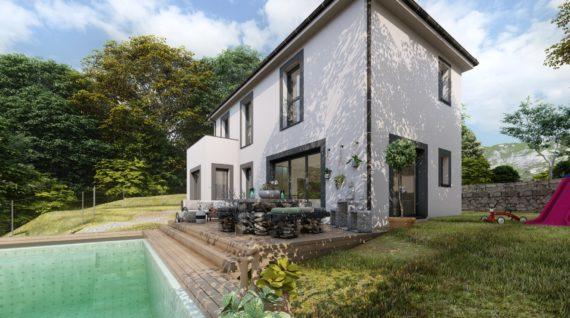 Facade maison moderne var