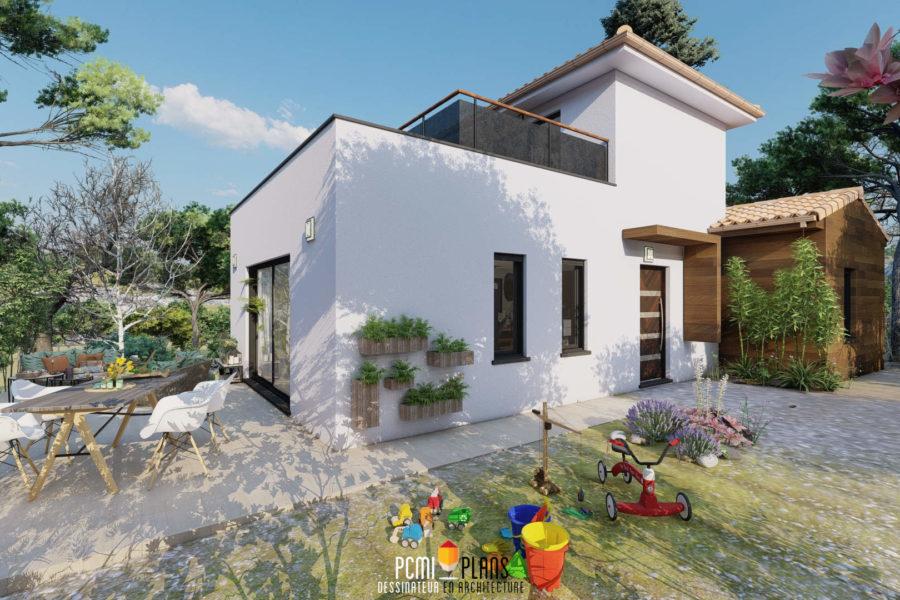 Maison à ossature bois de 90m²