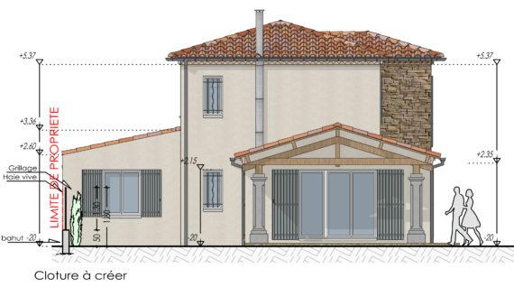PCMI 5 Façade d'une maison en couleur