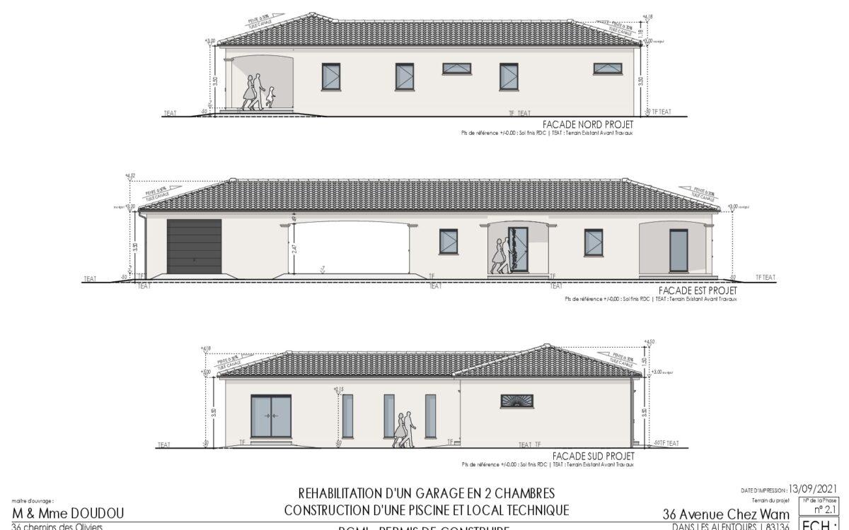 PCMI 5 Facades Maison de plain pied 160m