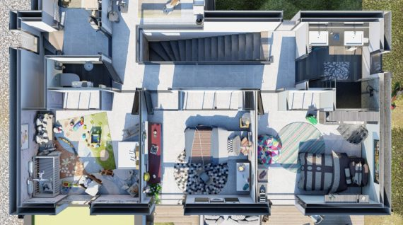 Plan 3D Chambres enfants